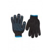 Перчатки х/б с ПВХ,пятиниточные ,черные арт.П-5ч